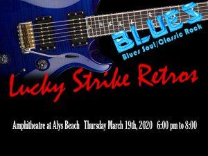 Blues/Rock Revival at ALYS BEACH Amphitheatre! March 19th 2020 6pm-8pm.